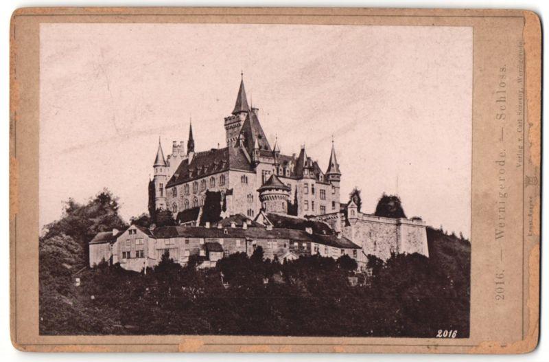 Fotografie Ernst Roepke, Wernigerode, Ansicht Wernigerode, Schloss