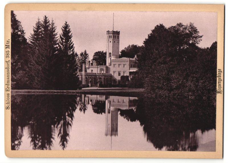 Fotografie unbekannter Fotograf, Ansicht Schloss Erdmannsdorf im Riesengebirge