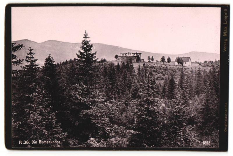 Fotografie unbekannter Fotograf, Ansicht Agnetendorf, Bismarckhöhe im Riesengebirge