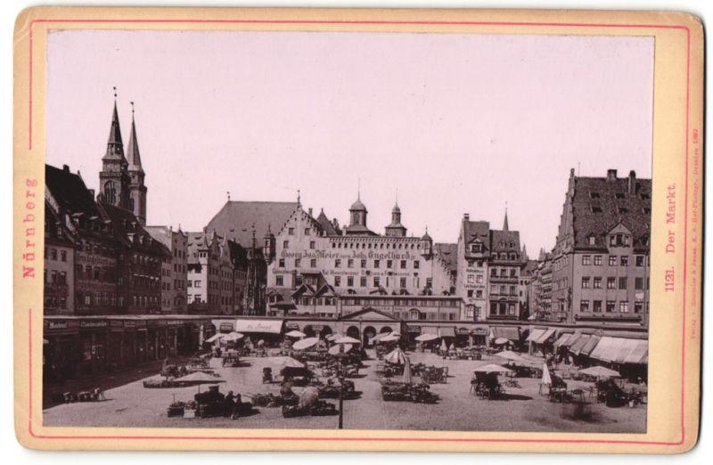 Fotografie Friedr. Haller & Söhne, München, Ansicht Nürnberg, der Markt