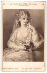 Fotografie F. & O. Brockmann's Nachfolger, Gemälde von Prof. Schurig, Angelica Kaufmann, die Vestalin