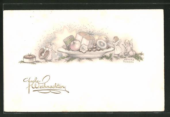 Künstler-AK Hannes Petersen: Frohe Weihnachten, Milde Gaben