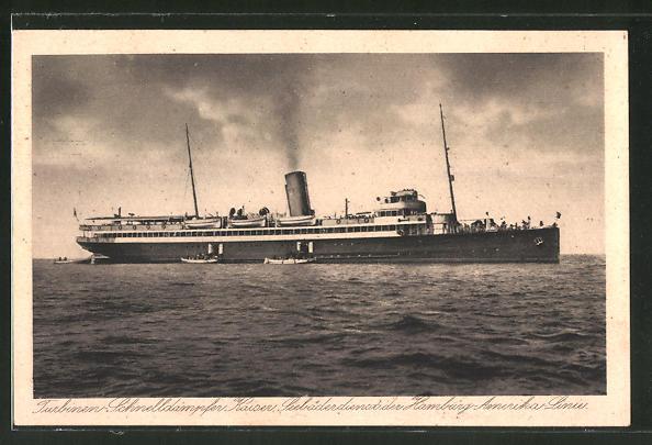 AK Passagierschiff Kaiser, Seebäderdienst der Hamburg-Amerika-Linie