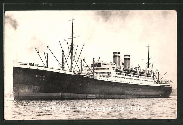 Foto-AK Passagierschiff New York der Hamburg-Amerika Linie
