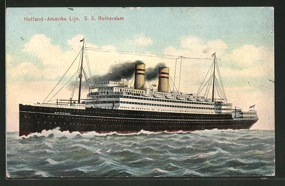 AK Holland-Amerika Lijn, Passagierschiff SS Rotterdam
