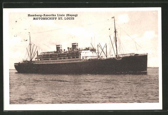 AK Hamburg-Amerika Linie Passagierschiff St. Louis