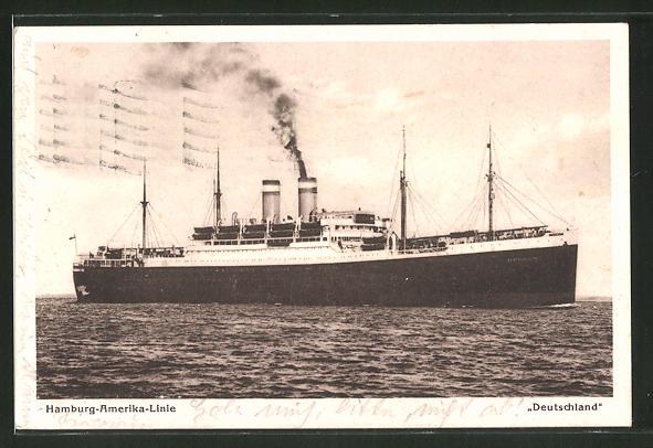AK Hamburg-Amerika-Linie, Passagierschiff Deutschland