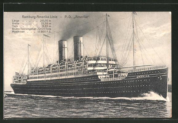 AK Passagierschiff P. D.