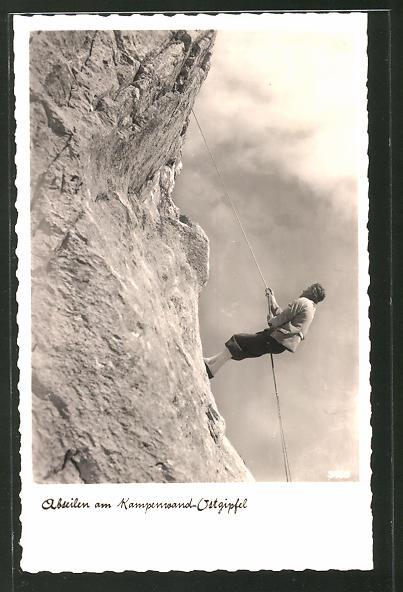 AK Abseilen am Kampenwand-Ostgipfel, Bergsteiger