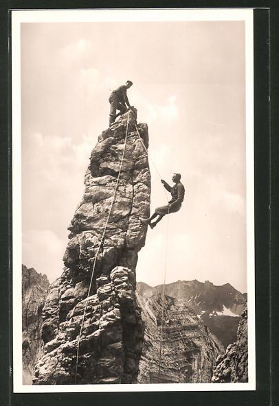 AK Bad Oberdorf, Abseilen an der Fuchskarspitze