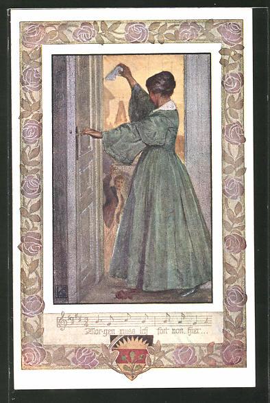 Künstler-AK Karl Friedrich Gsur, Deutscher Schulverein Nr. 1067: Lied