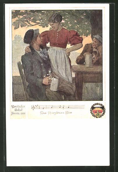 Künstler-AK Karl Friedrich Gsur, Deutscher Schulverein Nr. 463: Lied