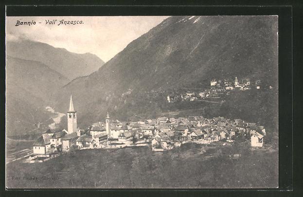 AK Bannio, Vall' Anzasca, Gesamtansicht mit Umgebung