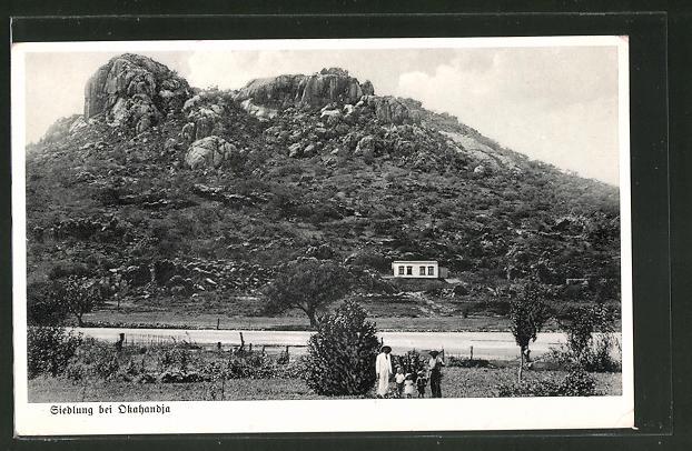 AK Okahandia, Blick zur Siedlung