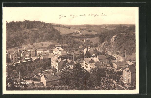 AK Bonne-Modave, Panorama aus der Vogelschau