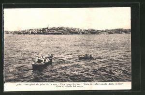 AK Jaffa, Blick vom Meer auf die Stadt