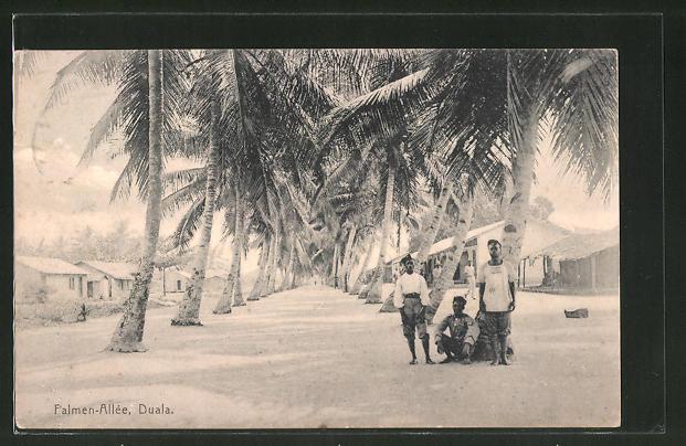 AK Duala, Blick in die Palmen-Allée