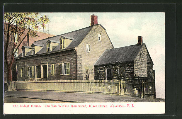 AK Paterson, NJ, The oldest House, the Van Winkle Homestead, River Street