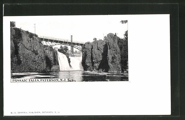 AK Paterson, NJ, Passaic Falls, Wasserfall