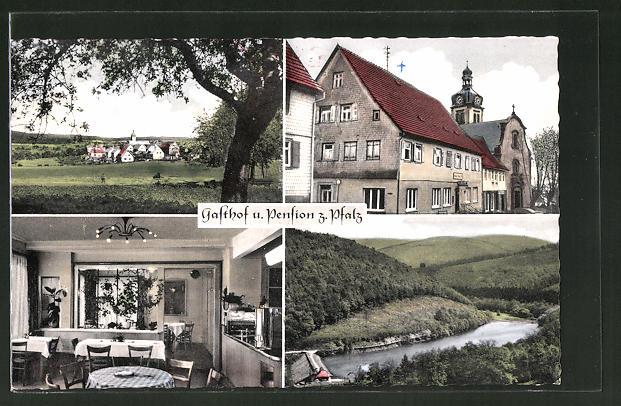 AK Strümpfelbrunn / Odw., Gasthof & Pension z. Pfalz, Bes. Eduard Weis