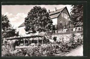 AK Rengshausen, Burschenheim Beiserhaus mit Gartenanlage und Perkula