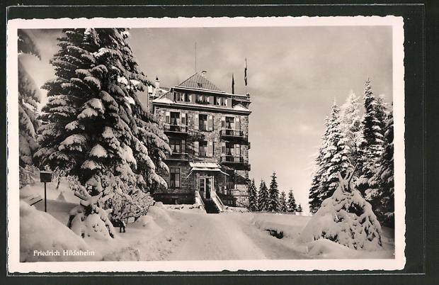 AK Bühl / Schwarzwald, Kaufmannserholungsheim Friedrich Hildaheim im Winter