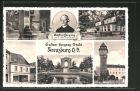 AK Kreuzburg, Gasthof Schützenhaus, Gustav Freytags Geburtshaus