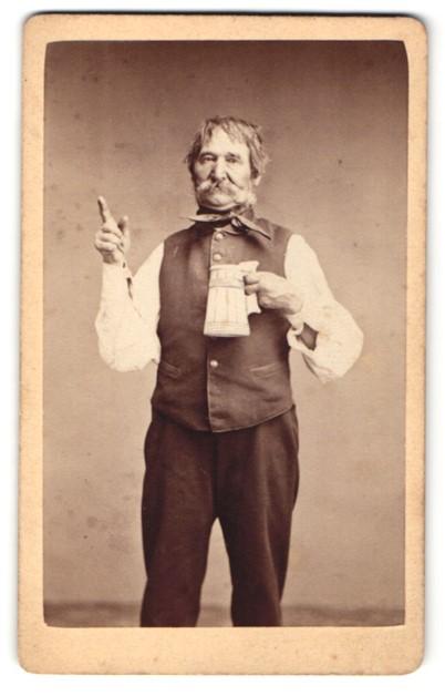 Fotografie Gustav Schultze, Naumburg a/S, Portrait Samiel, Wirt der Rudelsburg, 1869,wie auf PP2E1