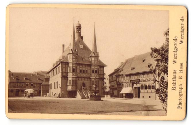 Fotografie E. Rose, Wernigerode, Ansicht Wernigerode, Rathaus