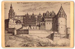 Fotografie Carl Lange, Heidelberg, Ansicht Heidelberg, Darstellung vom Schloss
