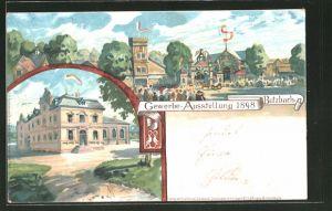 Lithographie Butzbach, Gewerbe-Ausstellung 1898, Ausstellungsgelände