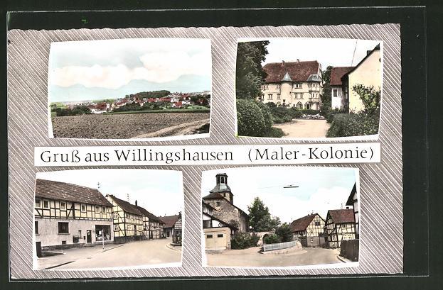 AK Willingshausen, Strassenansichten, Ortsansicht