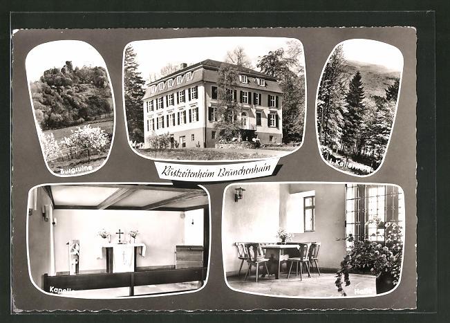 AK Jesberg, Rüstzeitenheim Brünchenhain, Burgruine, Kapelle