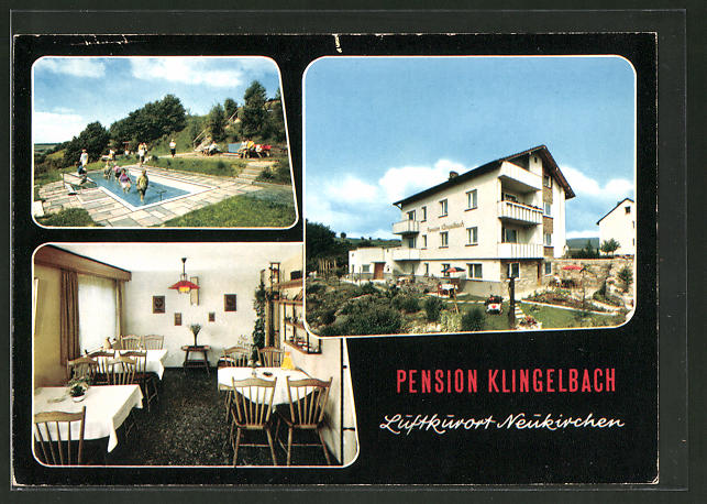 AK Neukirchen, Pension Haus Klingelbach, Leipziger Strasse 15