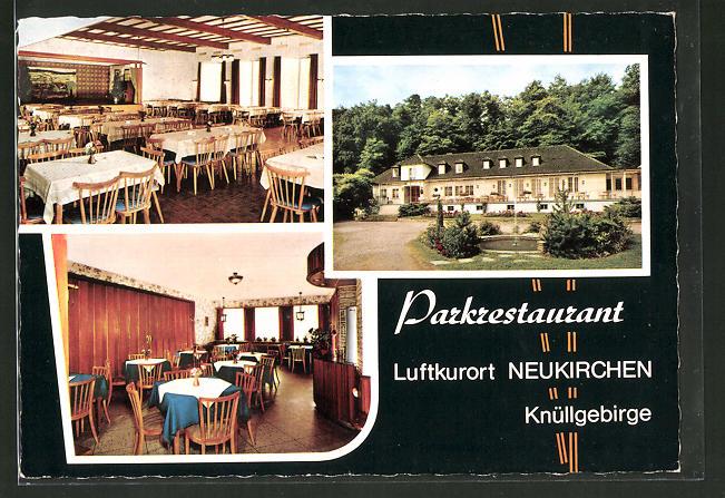 AK Neukirchen / Knüllgebirge, Parkrestaurant, ADAC-Hotel