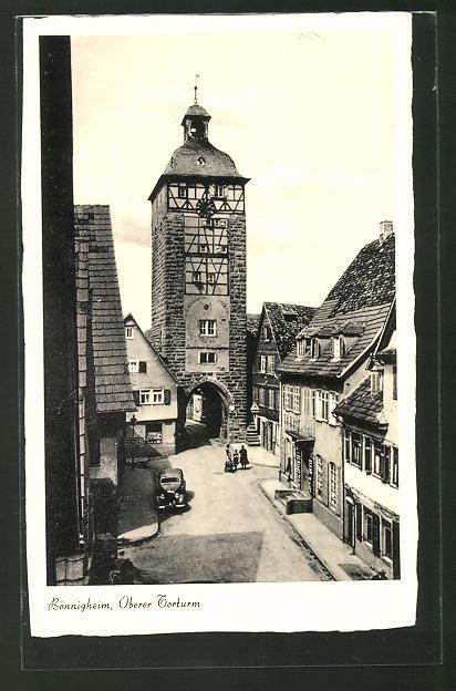 AK Bönnigheim, Blick auf den oberen Torturm
