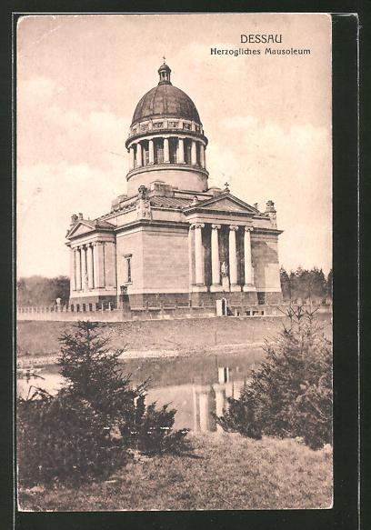 AK Dessau, Blick zum Herzoglichen Mausoleum
