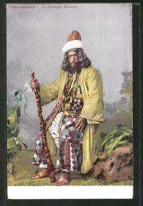 AK Constantinople, le Marcheur Oriental, Türke in Tracht