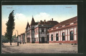 AK Szolnok, Palyaudvar, Partie am Bahnhof