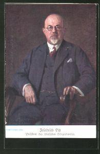 AK Wien, 10. Deutsches Sängerbundesfest 1928, Friedrich List, Präsident des Deutschen Sängerbundes