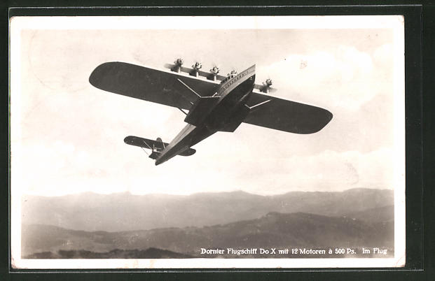 AK Dornier Flugschiuff Do X in der Luft