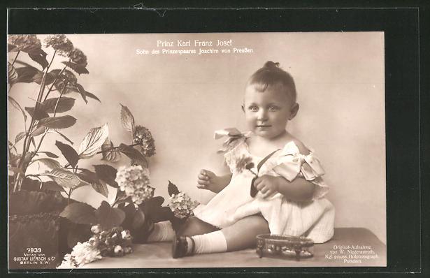 AK Prinz Karl Franz Josef, Sohn von Prinz Joachim von Preussen
