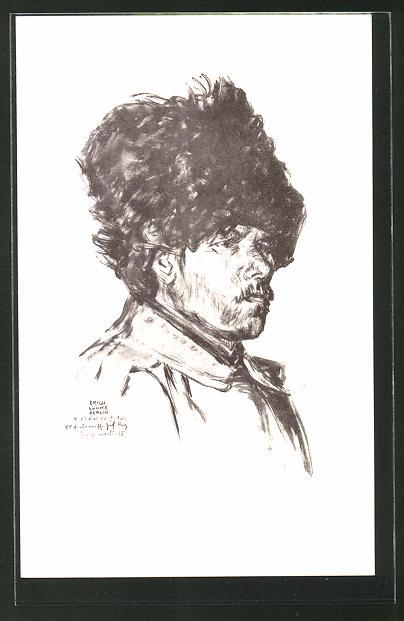 Künstler-AK Kriegsgefangener russischer Soldat