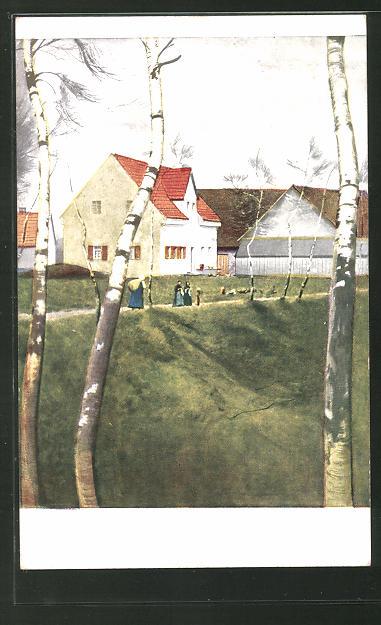 Künstler-AK G. Hirth's Verlag, Serie III, 3: Dorfstrasse