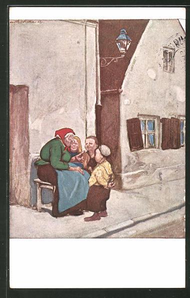 Künstler-AK G. Hirth's Verlag, Serie XXIX, 4: Märchenerzählerin