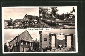 AK Kirch-Brombach / Odw., Metztgerei & Pension Gg. Emig, Innen- & Aussenansicht