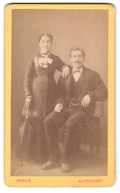 Fotografie Hordé, Creusot, Portrait bürgerliches Paar