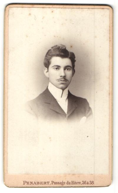 Fotografie Penabert, Paris, Portrait eleganter junger Herr