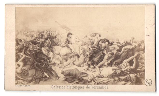Fotografie Franck, Versailles, Gemälde von unbek. Künstler, Schlachtenszene