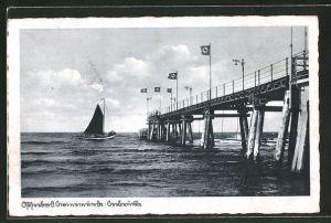 AK Ostseebad Swinemünde, Seebrücke